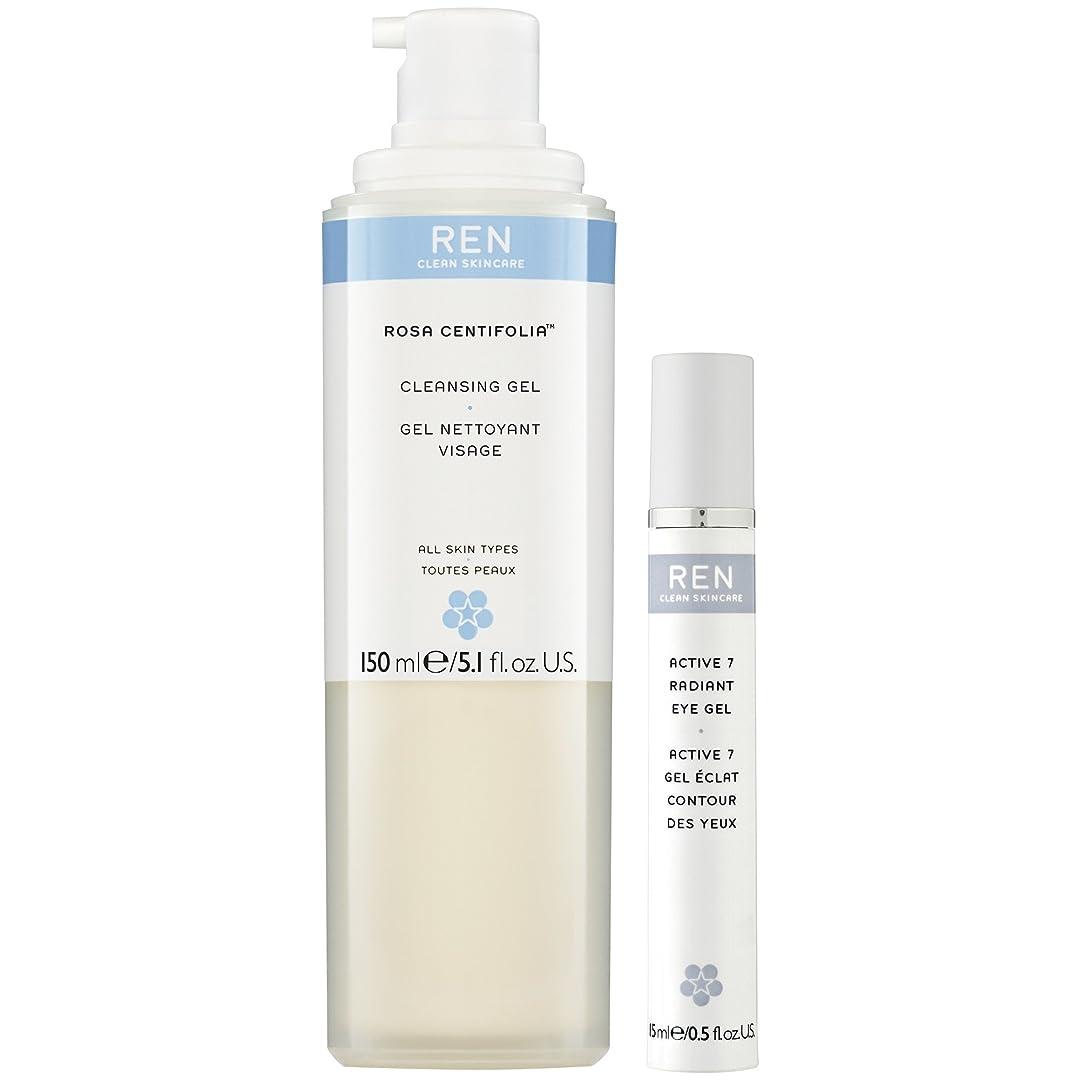 ペイントマイクロ不運Renローザセンチフォリアバラクレンジングジェル&アクティブ7アイジェルデュオパック (REN) (x2) - REN Rosa Centifolia Cleansing Gel & Active 7 Eye Gel Duo Pack (Pack of 2) [並行輸入品]