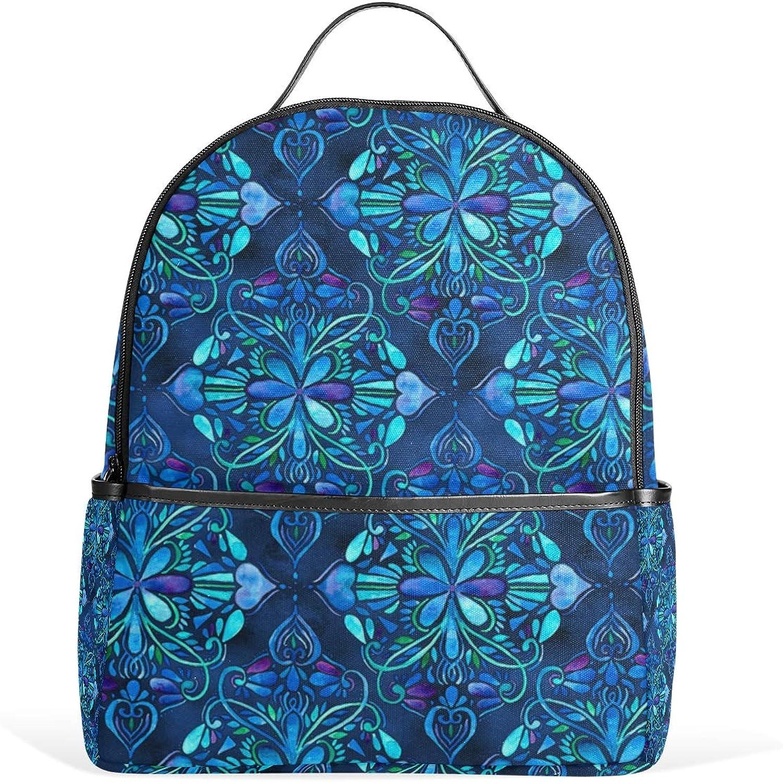 71836b5389ac Deep Ocean Art Nouveau Watercolor for Men Women Back Pack Shoulder ...