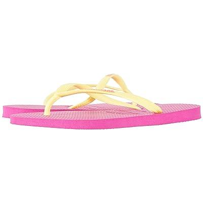 Havaianas Slim Logo Flip Flops (Hollywood Rose) Women