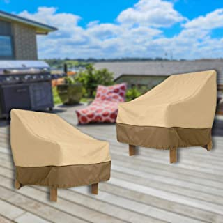 "SHANGXING Garden Patio Chair Cover-31""x33""x36"" Outdoor Waterproof Heavy Duty Lounge Deep-Seat Furniture Chair Cover for Ba..."