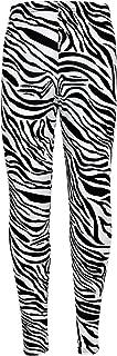 Kids Girls Legging Animal Zebra Print Stylish Fashion Dance Leggings 5-13 Years