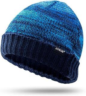 AONIJIE Warm Knit Hat Winter Beanie Hat Soft Woolen Warm & Stylish for Women & Men