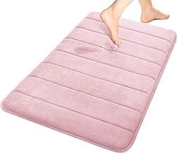 (1, Pink) - Yimobra Memory Foam Bathroom Rugs Large 80cm X 50cm Maximum Absorbency Non-Slip Soft Microfiber Bath Mat Pink ...