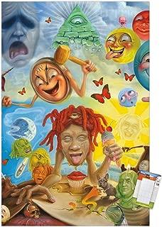 Trends International Trippie Redd-Art Mount Bundle Wall Poster, 22.375