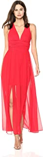 French Connection womens Andros Crepe light Sleeveless Sheer Maxi Dress Casual Dress
