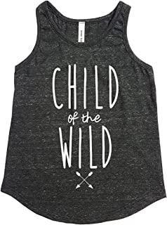 Tough Cookie's Kids' 2-13 Yrs Flowy Triblend Tank Top with Child of The Wild Print (Made in USA)