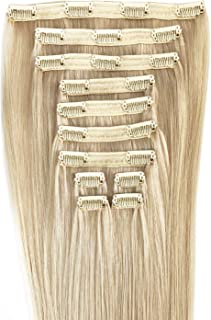 Maxy #90 Vanilla Blonde Clip In 100% Human Hair Extensions 20