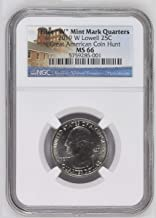 2019 W Lowell National Historical Park, MA - Great American Coin Hunt Label Quarter MS66 NGC