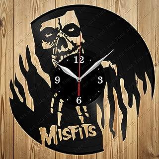 Vinyl Record Clock Misfits Art Decor Home Wall Clock Black Original Gift Unique Design