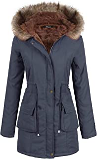 ccb6c3ab1e538 iClosam Women Parka Winter Long Coat Faux Fur Lined Anroak Jacket with Hood