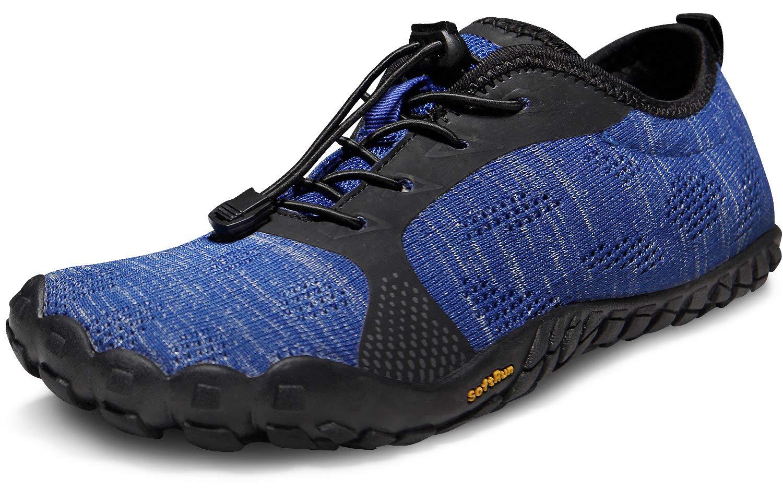 Tesla BK30 - Zapatillas de Running Minimalistas para Hombre, Men 10.5 D(M), TF-BK40-BLU: Amazon.es: Deportes y aire libre