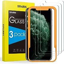 Verre Trempé compatible avec iPhone 11 Pro Max/ XS Max, [Lot de 3], Gabarit Offert - Anti Rayures - sans Bulles, Ultra Résistant, HD (0,26 mm), 9H
