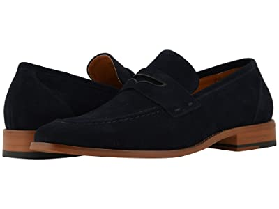 Stacy Adams Colfax Moc-Toe Slip-On Penny Loafer (Navy Suede) Men