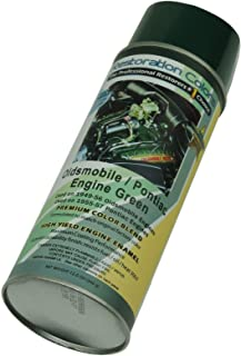 Compatible With 1949-1956 Oldsmobile 1955-1957 Pontiac Green High Temp Engine Enamel Spray Paint 1 Can (C-1-3)
