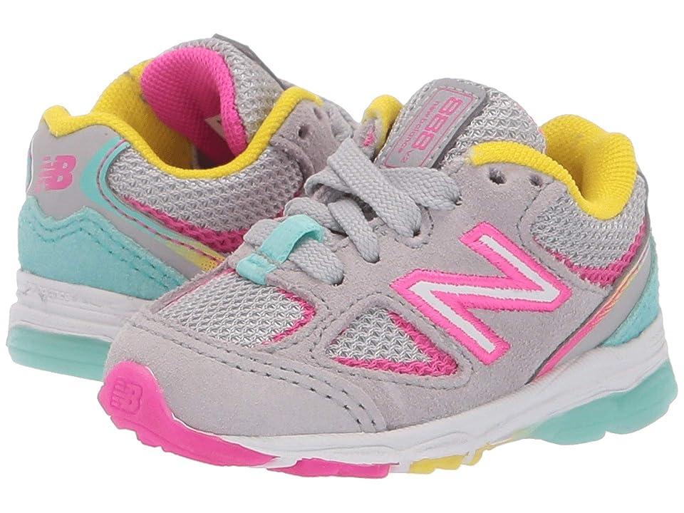 New Balance Kids IK888v2 (Infant/Toddler) (Grey/Rainbow) Girls Shoes