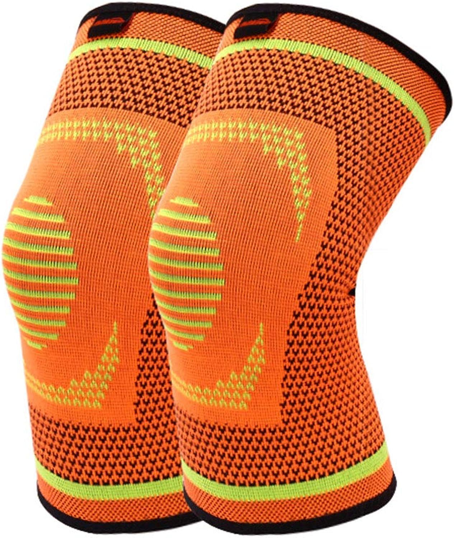 RenShiMinShop Knieschoner Kneepad warme atmungsaktive Knieschützer Outdoor-Fitness-Schutzausrüstung Sport Knieschützer Hohe elastische Anti-Rutsch-Knie-Pads 2 Pack (Farbe   Orange, Größe   XL) B07HL46M3T  Liste der Explosionen
