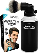 LEGACY SHAVE Evolution Shave Brush for Wet Shave, Attach to Most Shaving Cream & Gel Cans. Offers a Smooth Refreshing Shav...