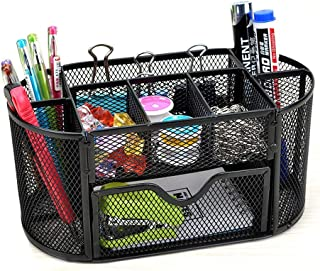 Dayalu 8 Section Multi-Function Metal Section Divider Document File Paper Magazine Rack Holder for Tabletop Office School ...