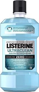 Listerine UltraClean Zero Mouthwash, Alcohol Free, Gum protection for healthier gums, Cool Mint, 1L