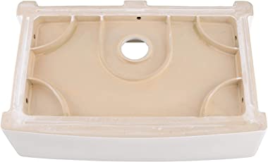 30 Inch White Fireclay Apron front Kitchen Farmhouse Sink-HOSINO Handcrafted Apron Front Sink White Farmers Sink Single Bowl