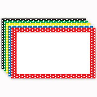 "Top Notch Teacher Products Border Blank Index Cards (75 Count), 4"" x 6"", Polka Dot Assorted"