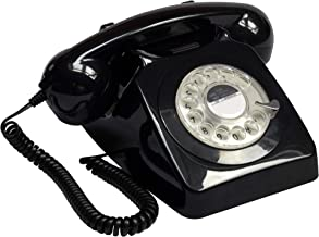 $64 » GPO 746 Rotary 1970s-style Retro Landline Phone - Curly Cord, Authentic Bell Ring