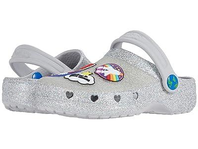 SKECHERS KIDS Cali Gear Heart Charmer Nasa Glitter Clog 314999L (Little Kid/Big Kid) (Silver/Multi) Girl