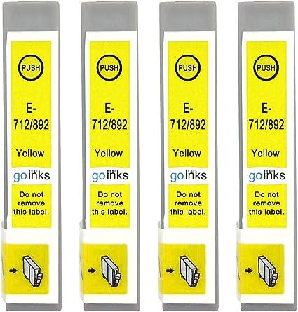 Go Inks E 714 Kompatible Gelbe Tintenpatrone Als Ersatz Für Epson T0714 Zur Verwendung Mit Epson Stylus Druckern 4 Stück Bürobedarf Schreibwaren