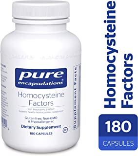 Pure Encapsulations - Homocysteine Factors - Hypoallergenic Supplement Helps Maintain Normal Homocysteine Levels and Cardiovascular Health* - 180 Capsules