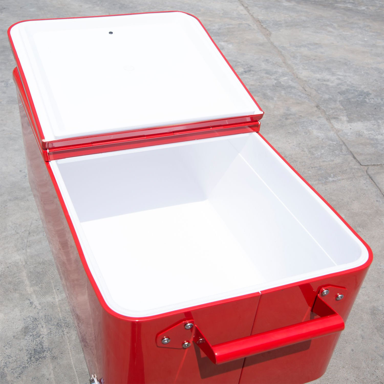 Outsunny 80 QT Rolling Ice Chest Portable Patio Cooler
