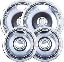 Range Kleen 10124XN Style A 4-Pack Drip Pans, Chrome