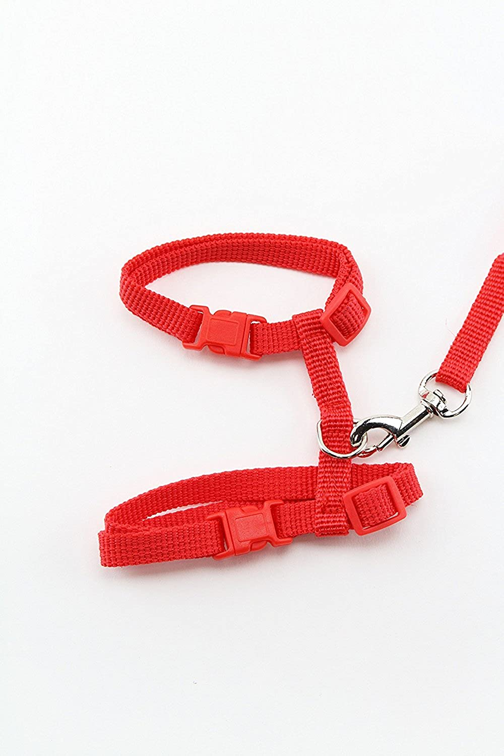 Midlee Adjustable Nylon Cat Harness & Leash by (Red)