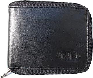 Men's Zipfold Leather Bi-Fold Slim Wallet, Holds Up to 25...