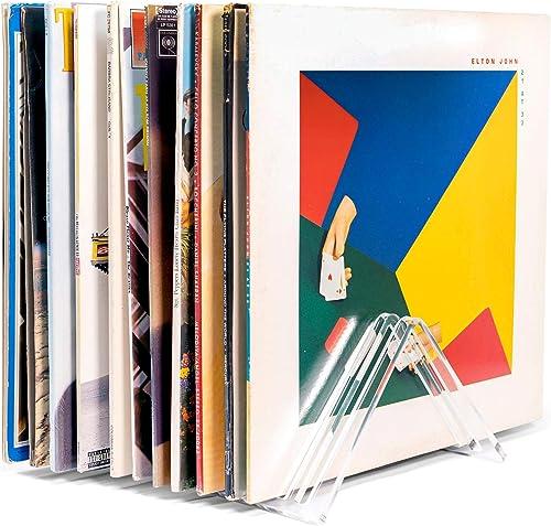 "Hudson Hi-Fi Vyramid® Vinyl Record Storage Record Holder for Albums - Vinyl Organizer Record Album Storage Fits 7"" 10..."