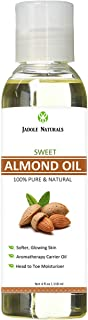 Jadole Naturals Sweet Almond Oil for Hair, Skin and Eyelash