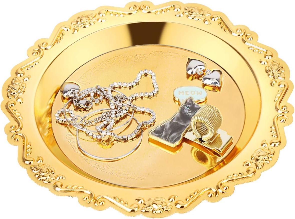 Small Round Jewelry Tray Holder Max 59% Baltimore Mall OFF Ring Orga Dish Organizer
