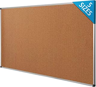 Cork Notice Pin Board | Aluminum Framed Memo Board for Office and Home Use | 5 Sizes Available - 24