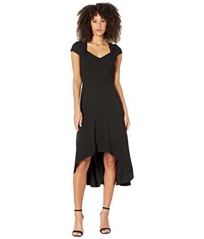 Adrianna Papell Divine Crepe High-Low Dress