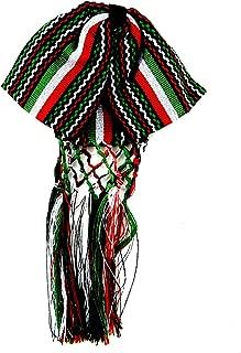 Mexican Charro Bow Tie Red GREEN AND WHITE TRICOLOR elastic band coco theme party day of the dead necktie mexican charro mono de gala