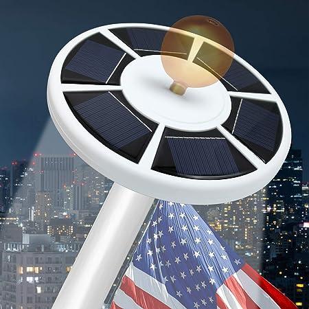 Details about  /TOTOBAY 30 LED Solar Power Flag Pole Lights Upgraded Version} Weatherproof Flag