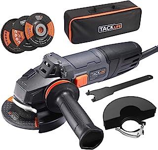 comprar comparacion Amoladora Angular 900W, TACKLIFE Herramienta de 125 mm y 12000 RPM con Mango Anti-vibraciones, 3 Discos para Lijar/Pulir/C...