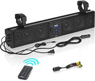 $174 » Sound Storm Laboratories SB18 UTV Sound Bar System - 18 Inch Wide, Weatherproof IPX5 Rated, Bluetooth, Amplified, 4 Inch S...
