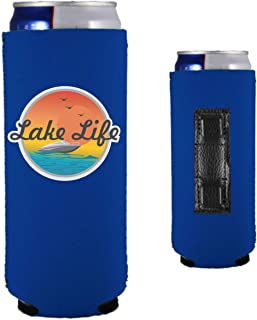 Lake Life Magnetic Neoprene Collapsible Slim Can Coolie (2, Royal Blue)