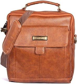Good Win TAN Color Leatherette Sling Bag for Men