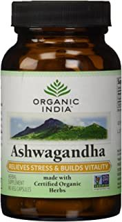 Organic India Ashwagandha, 90 Count (Pack of 2)