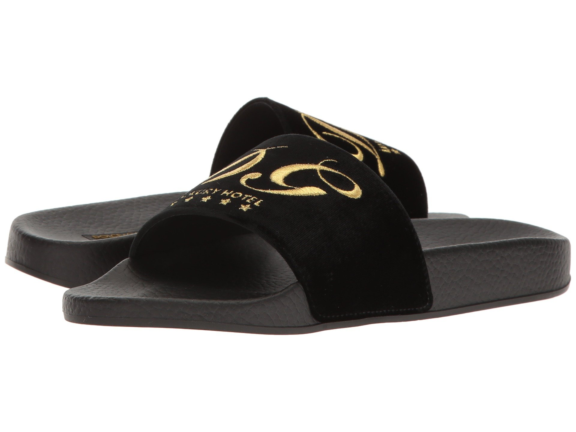 Dolce & Gabbana Rubberized Leather DG Pool Slide R2qteOumBR