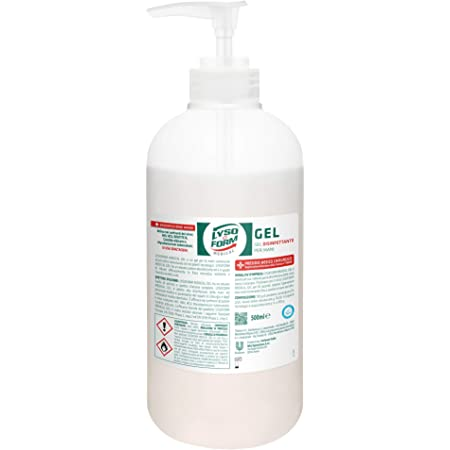 Lysoform Medical Gel Disinfettante per le Mani, 500 ml, con Pump