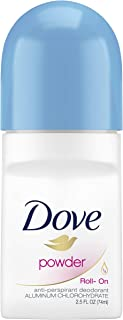 Dove Roll On Antiperspirant Deodorant, Powder 2.5 Ounce, (Pack of 6)
