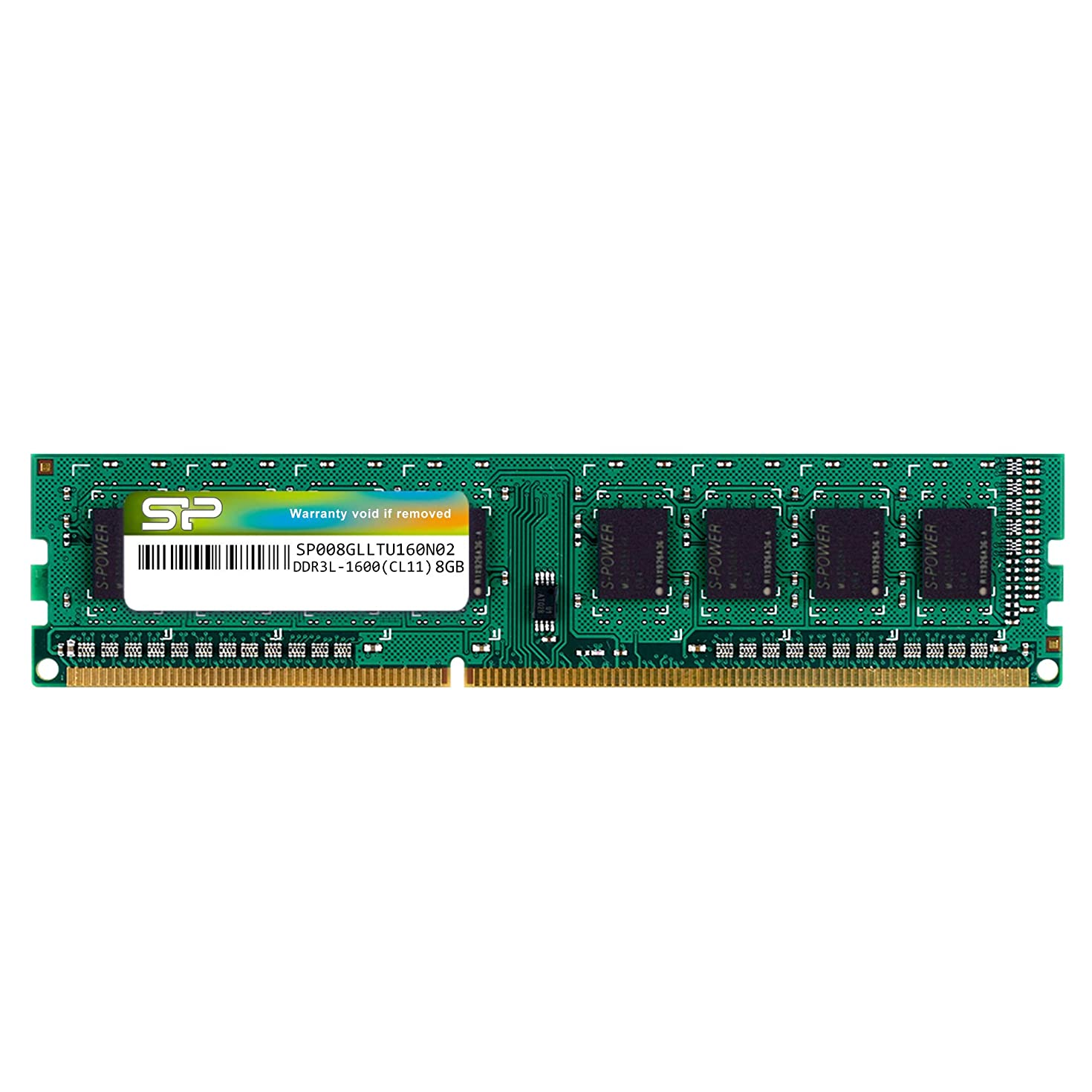 Silicon Power 8GB-DDR3L-RAM-1600MHz (PC3 12800) 240 pin CL11 1.35V Non ECC Unbuffered UDIMM-Desktop Memory Module - Low Voltage and Power Saving