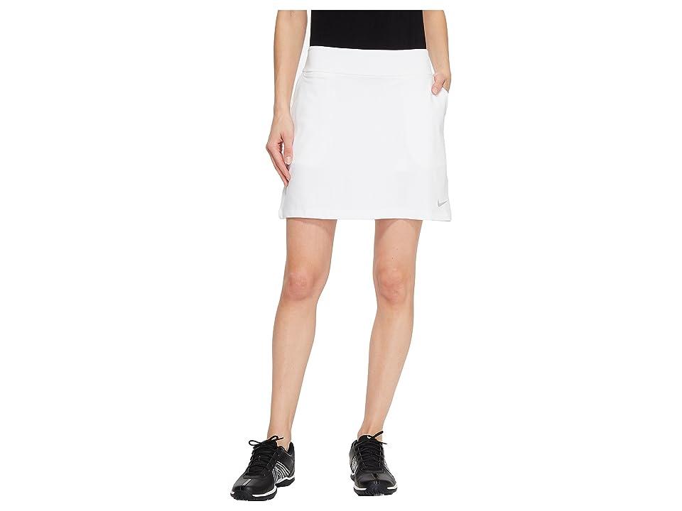 Nike Golf Dry Skort Knit 16.5 (White/Black) Women